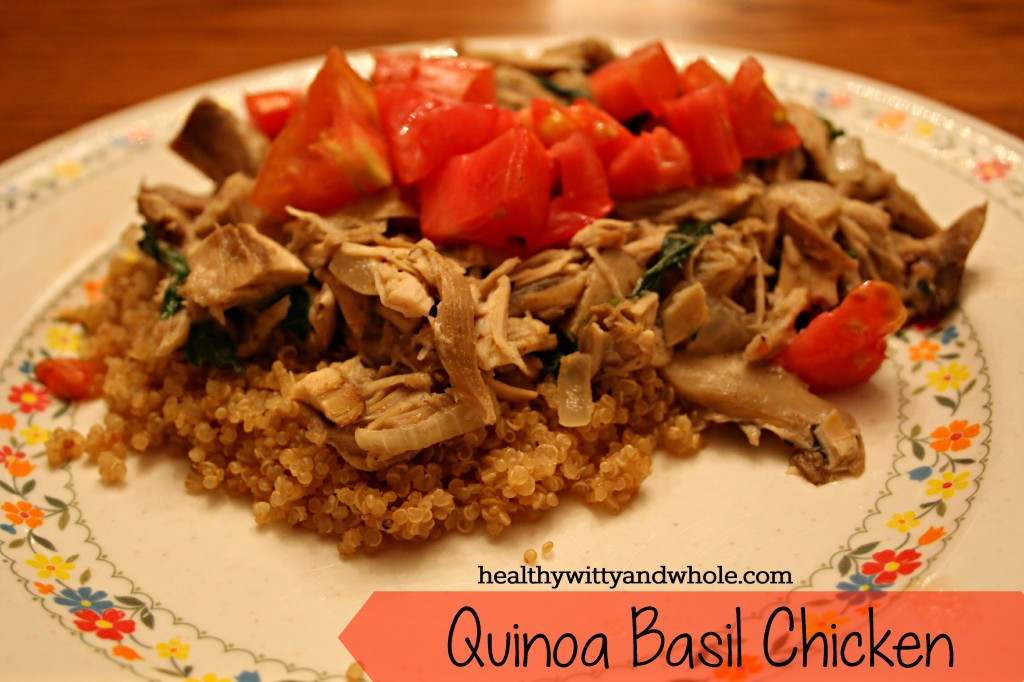 quinoa basil chicken